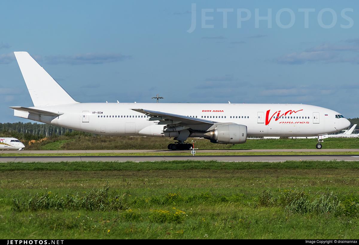VP-BDW - Boeing 777-2H6(ER) - Vim Airlines