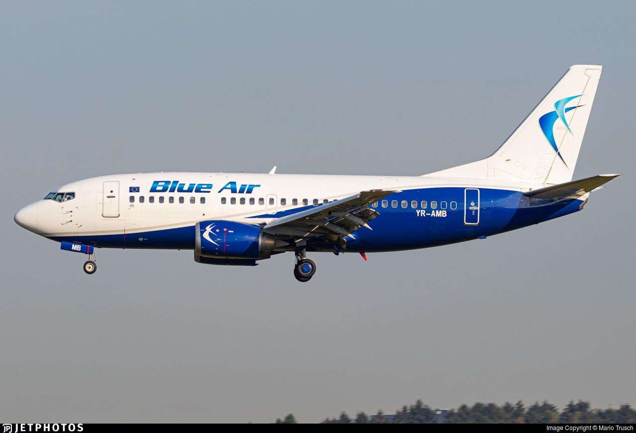 YR-AMB - Boeing 737-530 - Blue Air