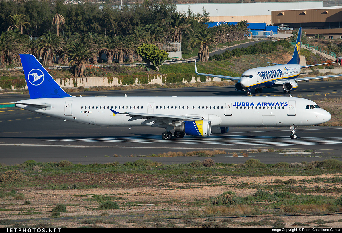 F-GYAN - Airbus A321-111 - Jubba Airways