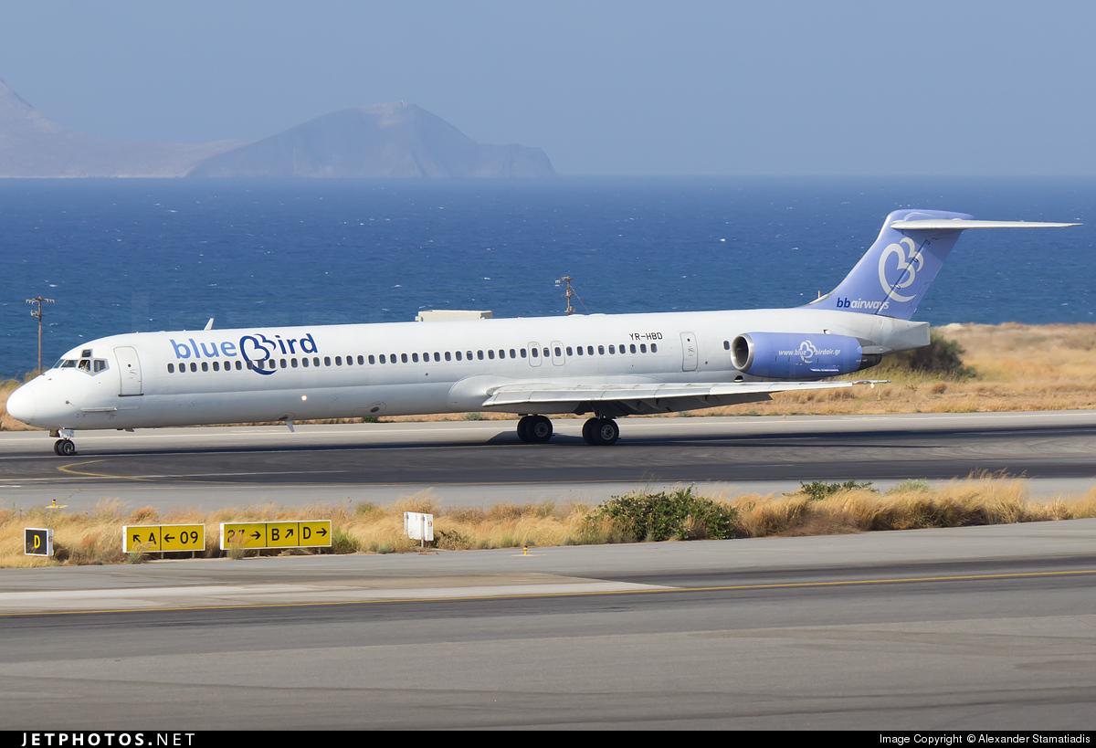YR-HBD - McDonnell Douglas MD-83 - Bluebird Airways