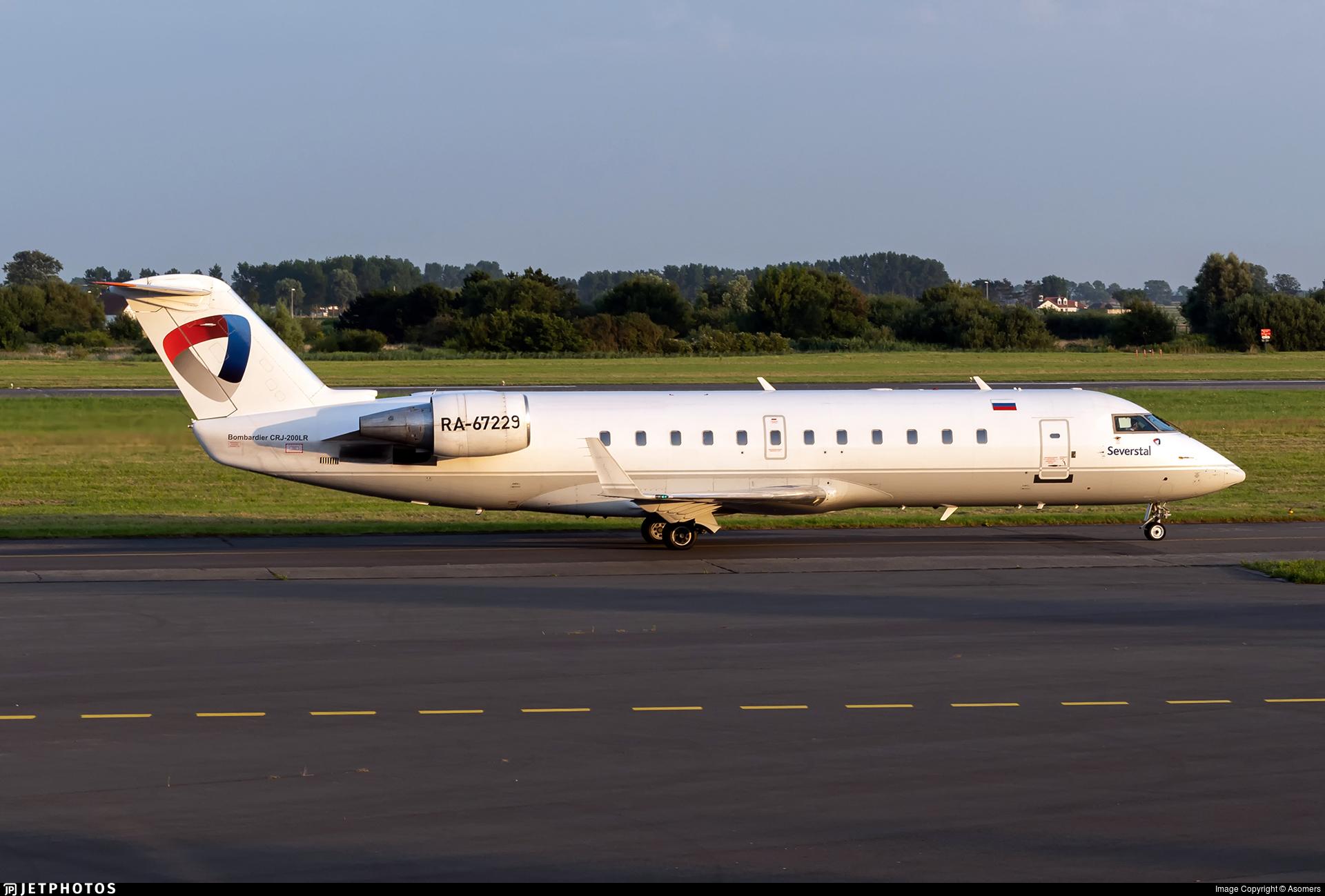 RA-67229 - Bombardier CRJ-200LR - Severstal Air Company