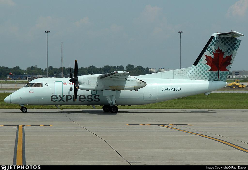 C-GANQ - Bombardier Dash 8-102 - Air Canada Express (Jazz Aviation)
