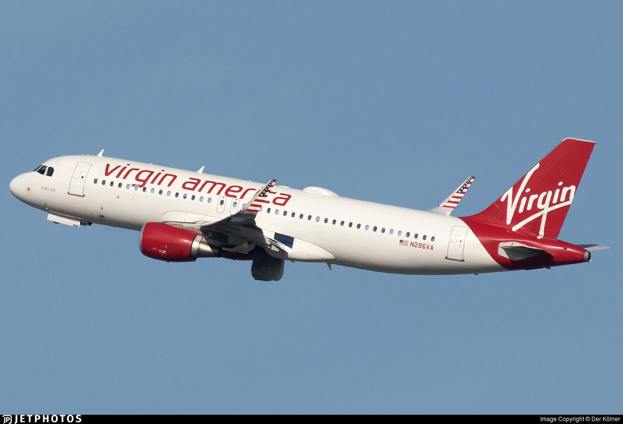 N286VA - Airbus A320-214 - Virgin America