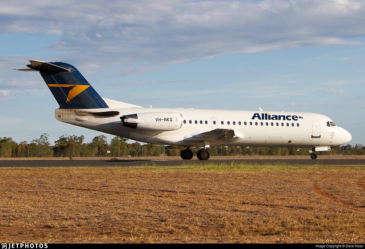 VH-NKQ - Fokker 70 - Alliance Airlines
