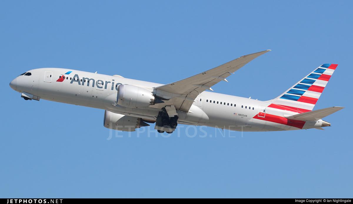 N805an Boeing 787 8 Dreamliner American Airlines Ian