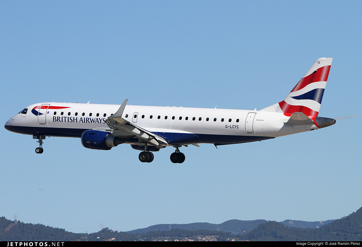 G-LCYS - Embraer 190-100SR - BA CityFlyer