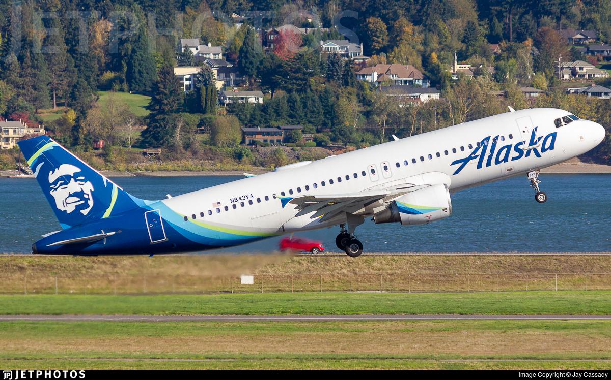 N843VA - Airbus A320-214 - Alaska Airlines