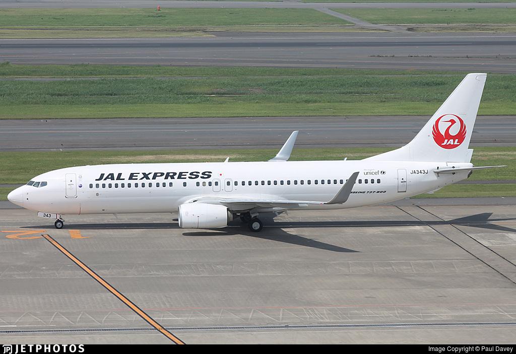 JA343J - Boeing 737-846 - JAL Express