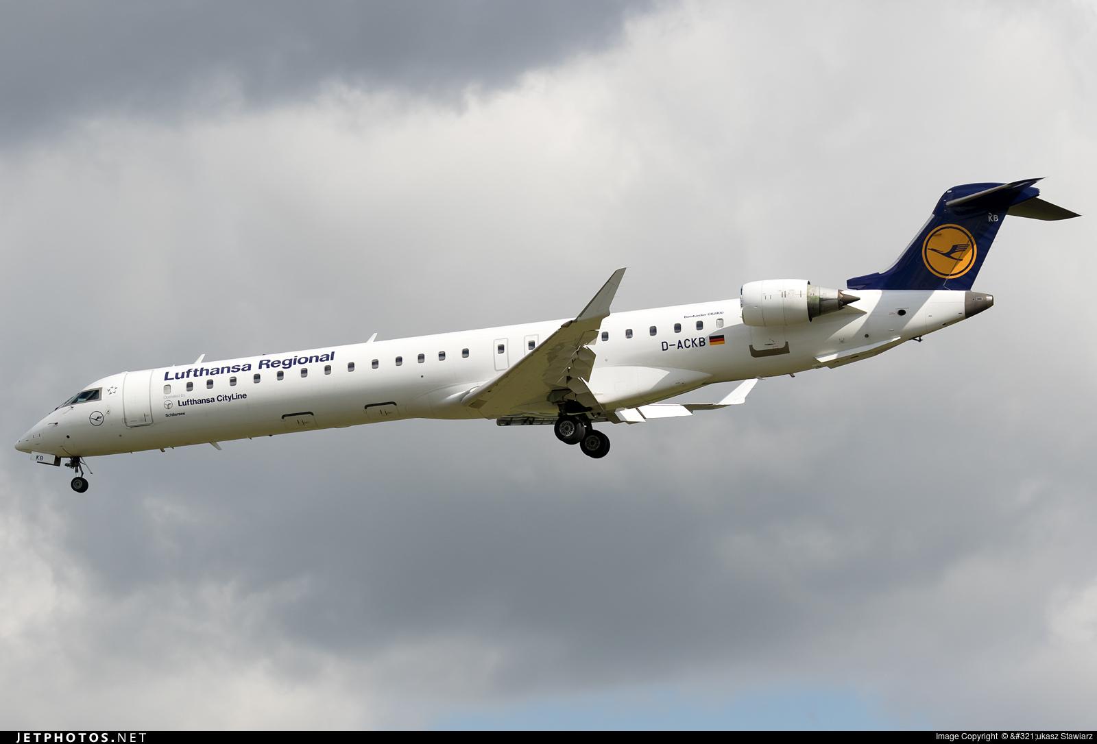 D-ACKB - Bombardier CRJ-900LR - Lufthansa Regional (CityLine)