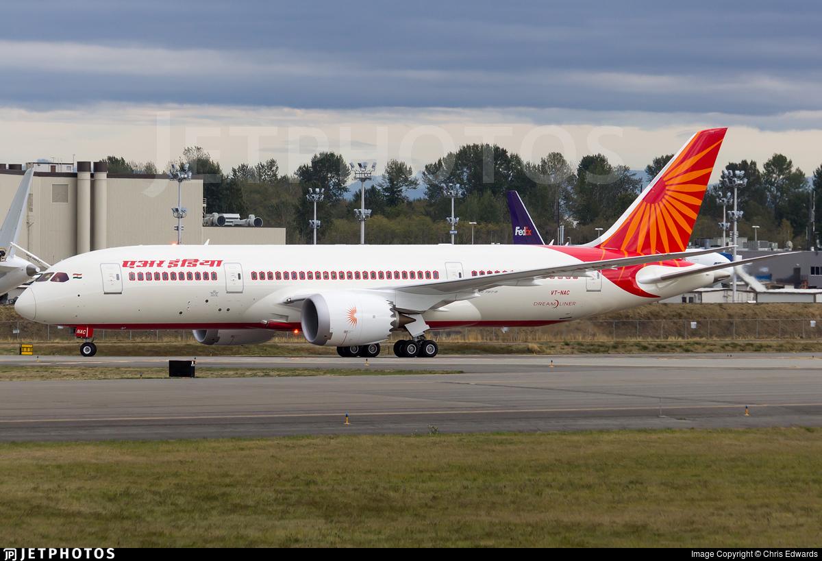 VT-NAC | Boeing 787-8 Dreamliner | Air India | Chris ...