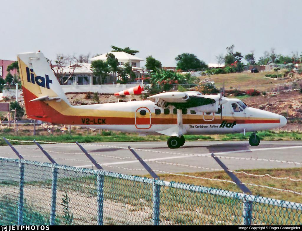 V2-LCK - De Havilland Canada DHC-6-300 Twin Otter - Leeward Islands Air Transport (LIAT)