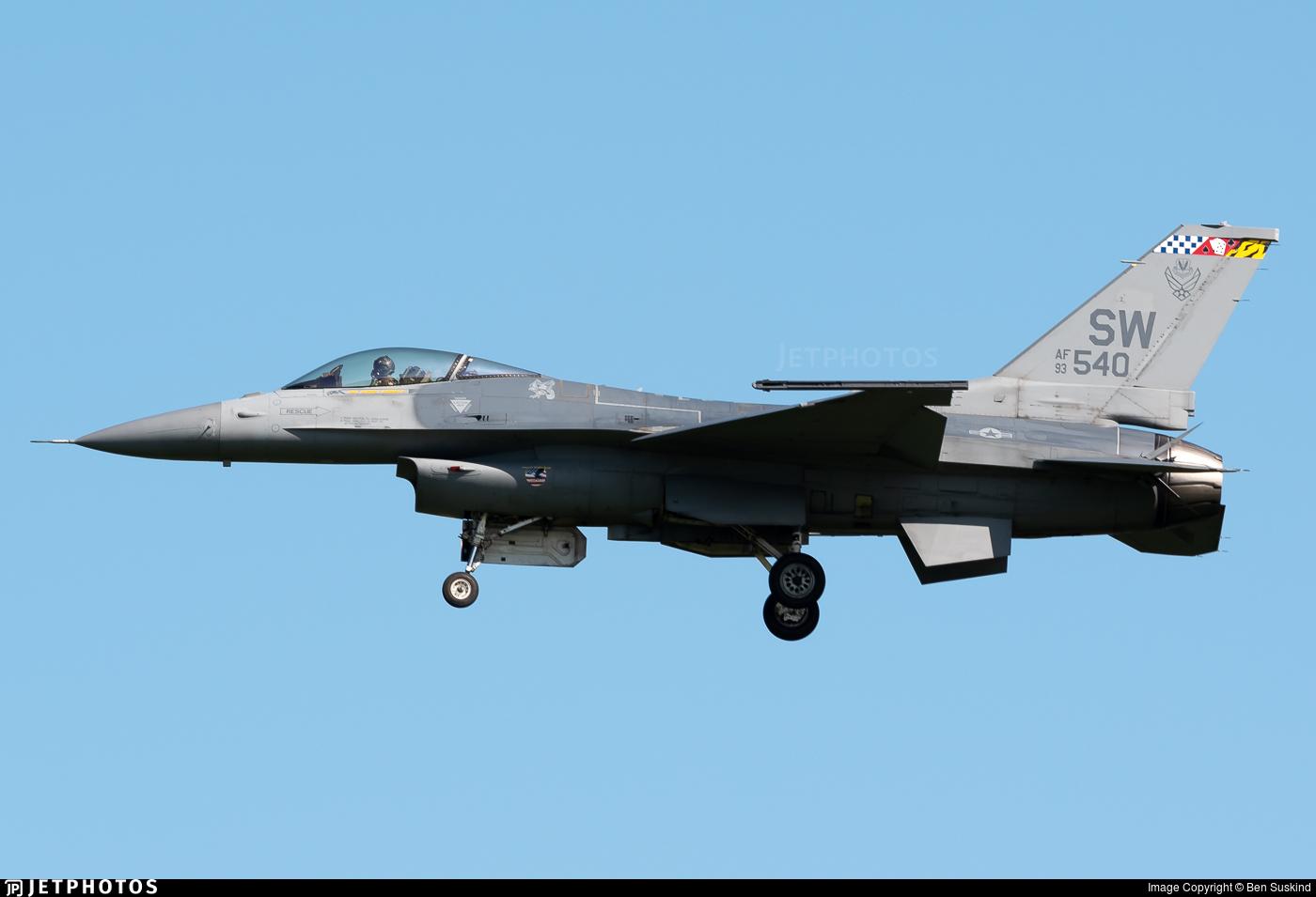 93-0540 - Lockheed Martin F-16CM Fighting Falcon - United States - US Air Force (USAF)