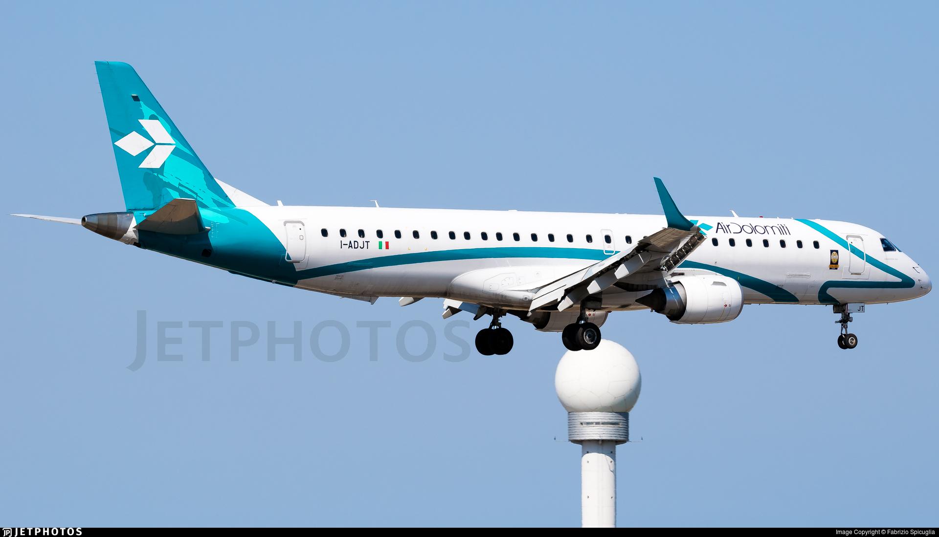 I-ADJT - Embraer 190-200LR - Air Dolomiti