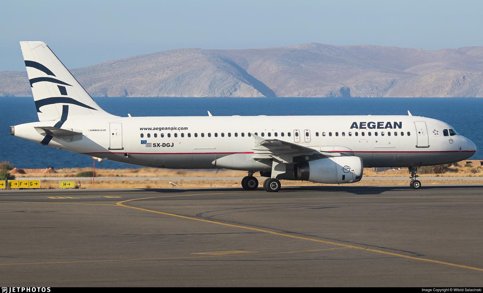 SX-DGJ - Airbus A320-232 - Aegean Airlines