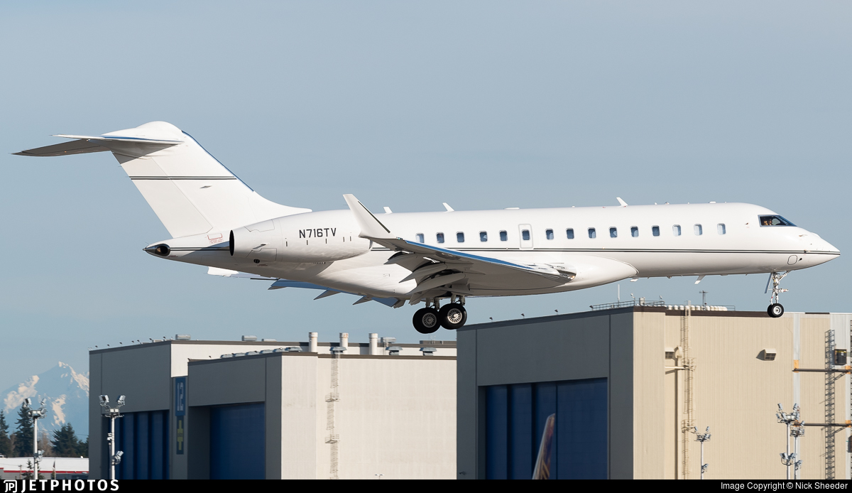N716TV - Bombardier BD-700-1A10 Global 6000 - Private