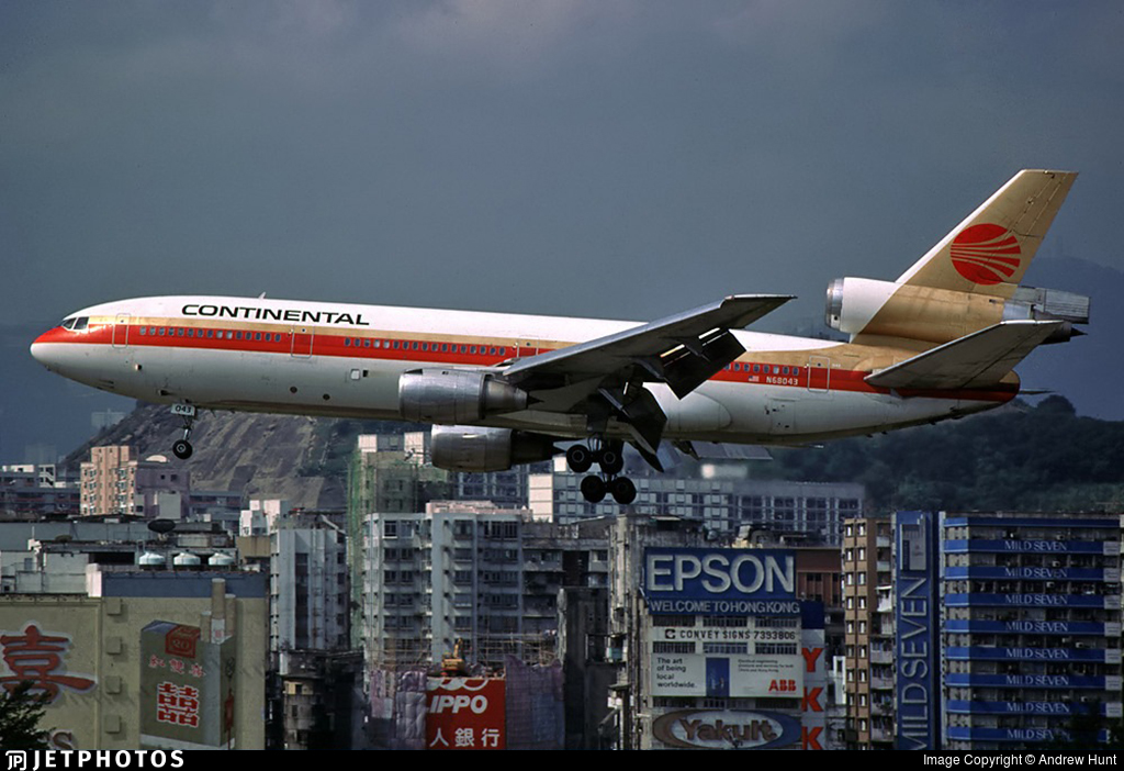 N68043 - McDonnell Douglas DC-10-30 - Continental Airlines