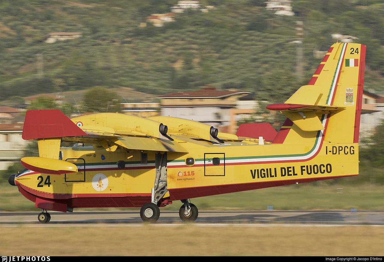 I-DPCG - Canadair CL-415 - Italy - Vigili del Fuoco