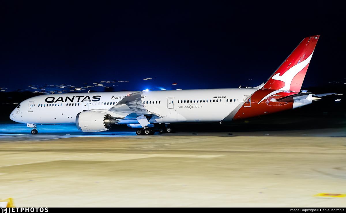 VH-ZNC - Boeing 787-9 Dreamliner - Qantas