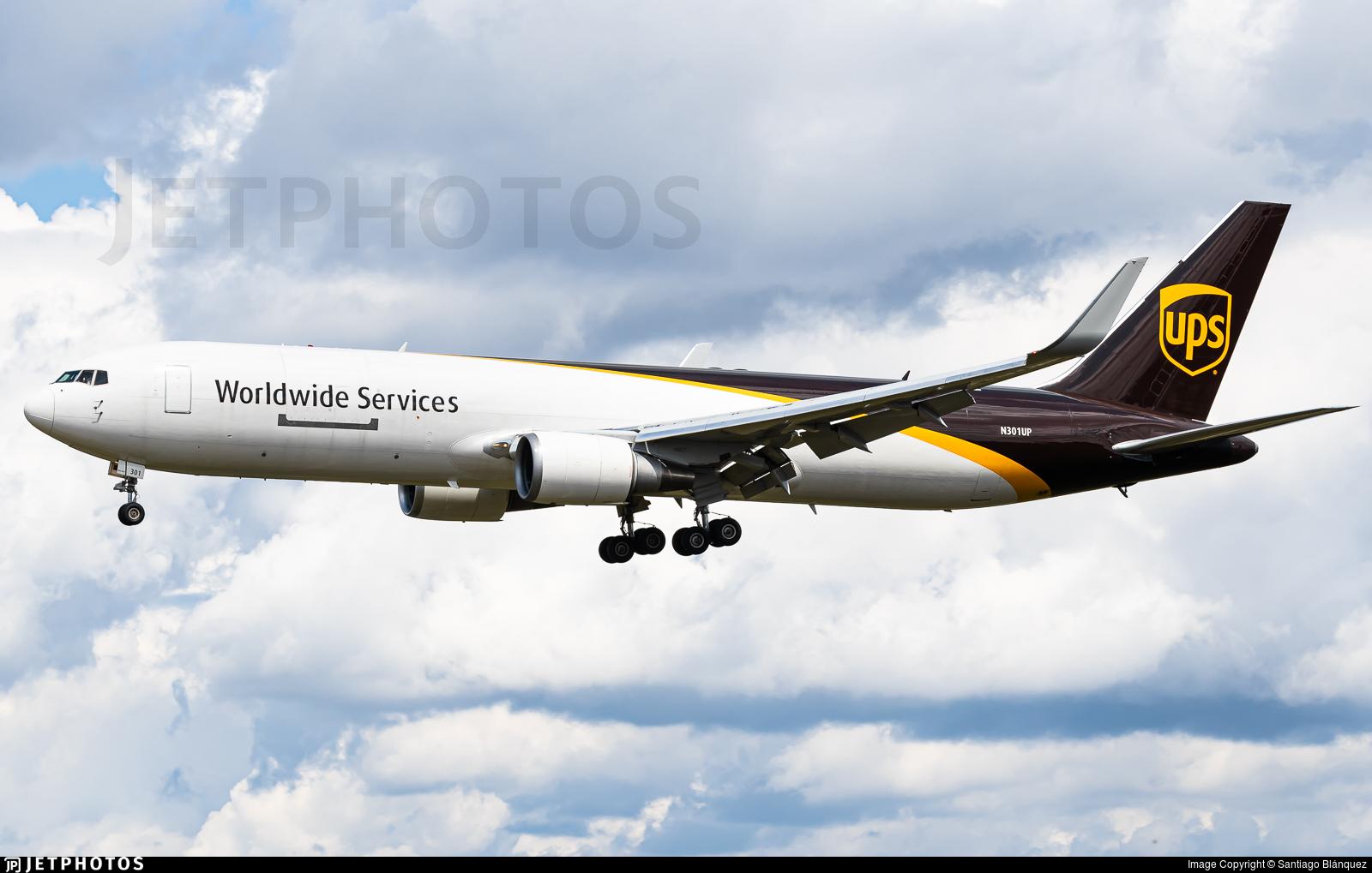 N301UP - Boeing 767-34AF(ER) - United Parcel Service (UPS)