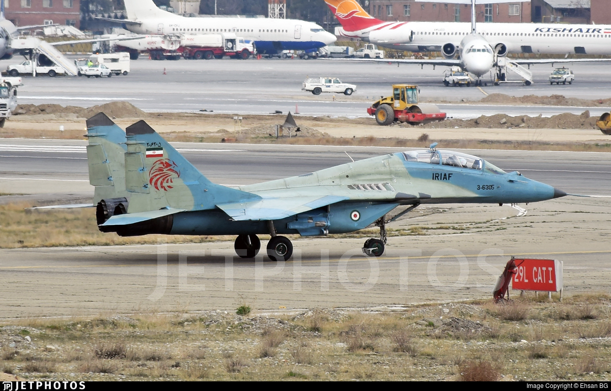 3-6305 - Mikoyan-Gurevich MiG-29UB Fulcrum - Iran - Air Force