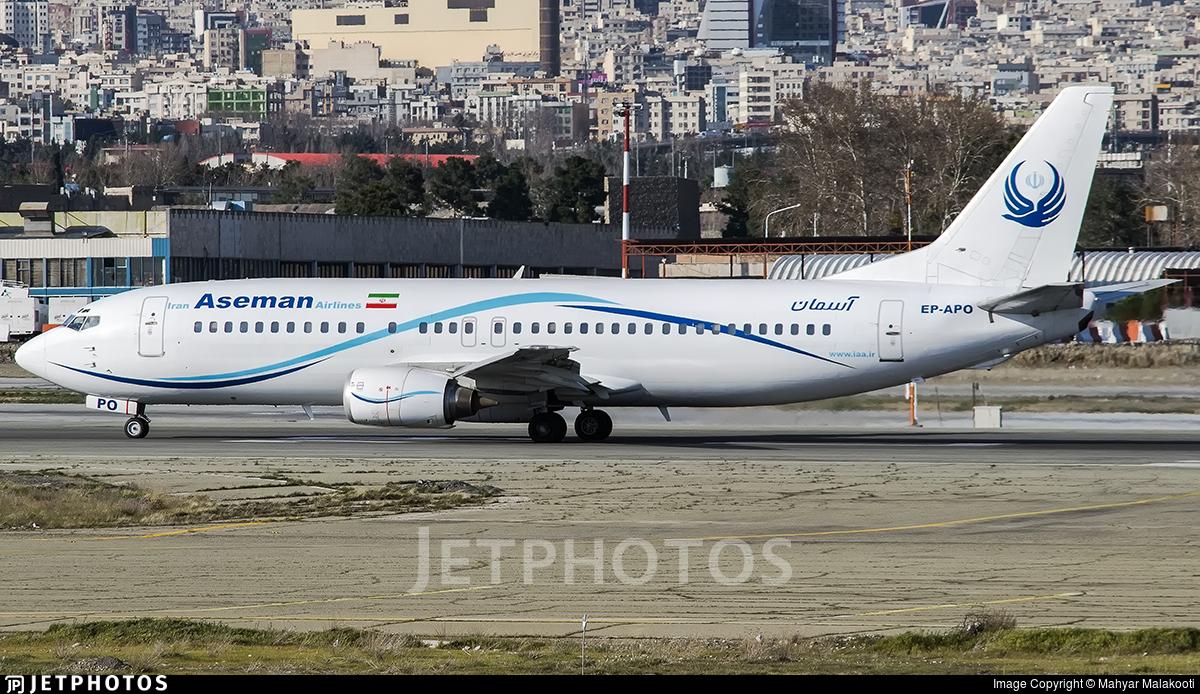 EP-APO - Boeing 737-4H6 - Iran Aseman Airlines