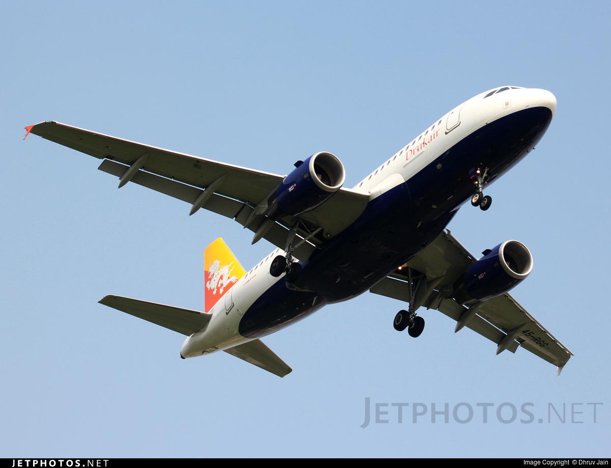 A5 Rgg Airbus A319 115 Druk Air Royal Bhutan Airlines Dhruv