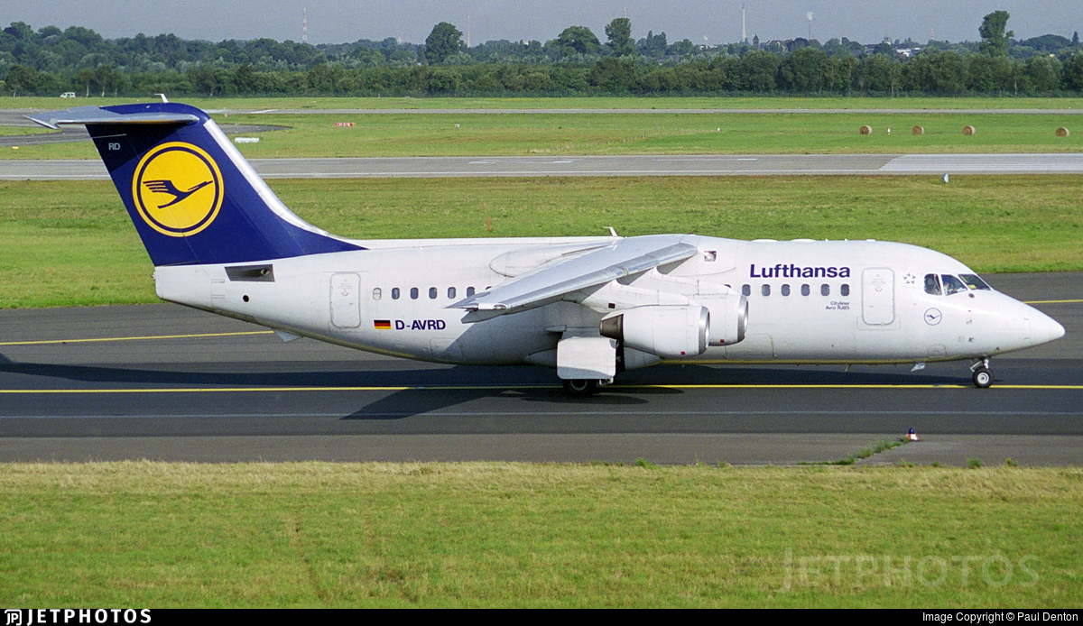 D-AVRD - British Aerospace Avro RJ85 - Lufthansa