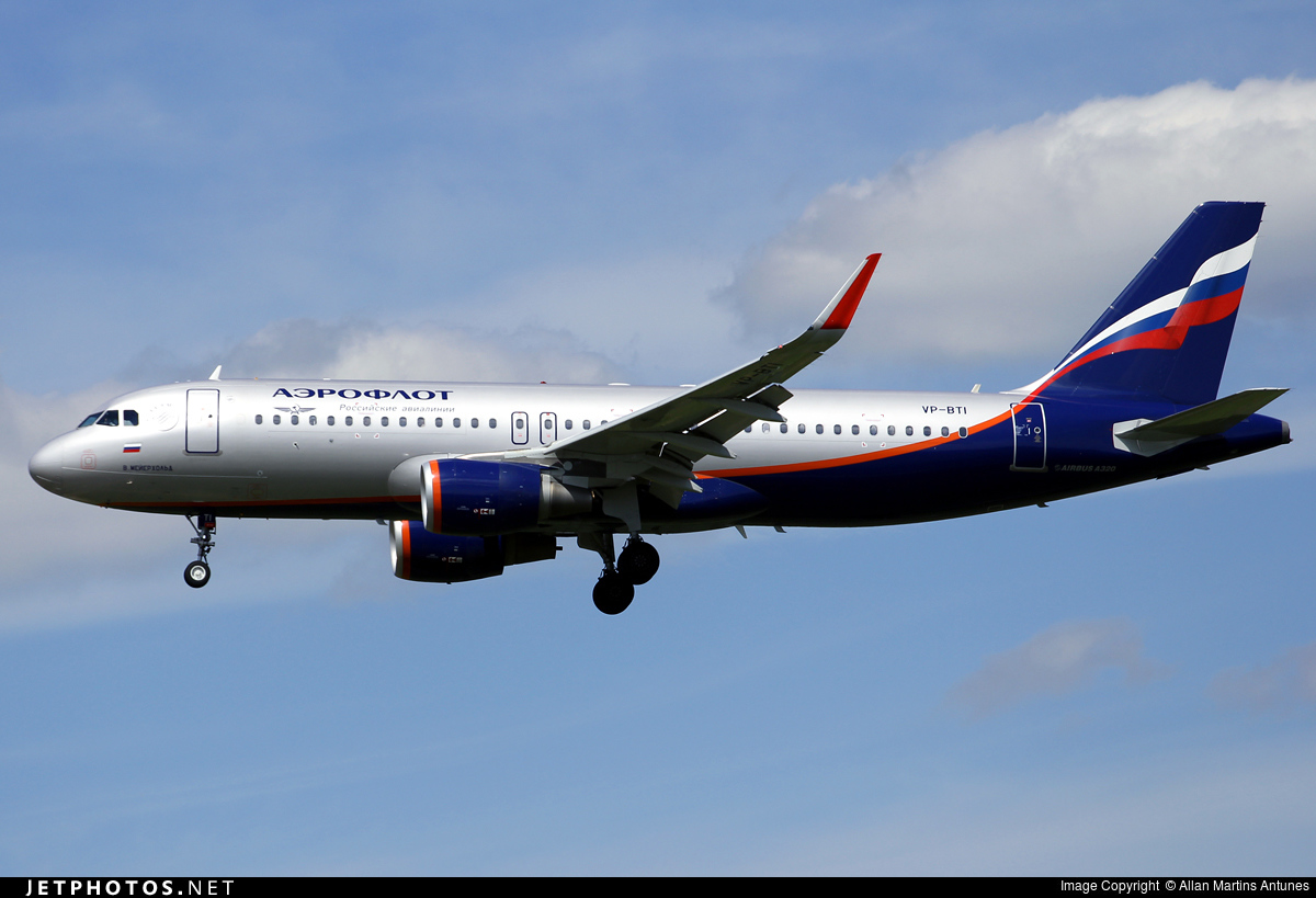 VP-BTI - Airbus A320-214 - Aeroflot