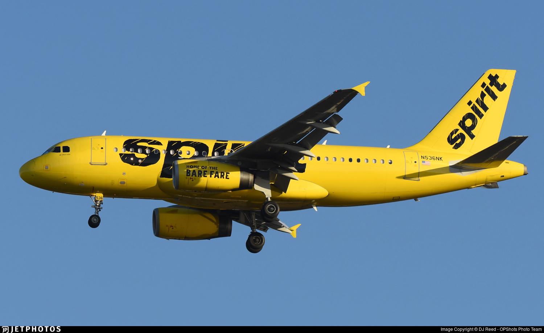 N536NK - Airbus A319-133 - Spirit Airlines