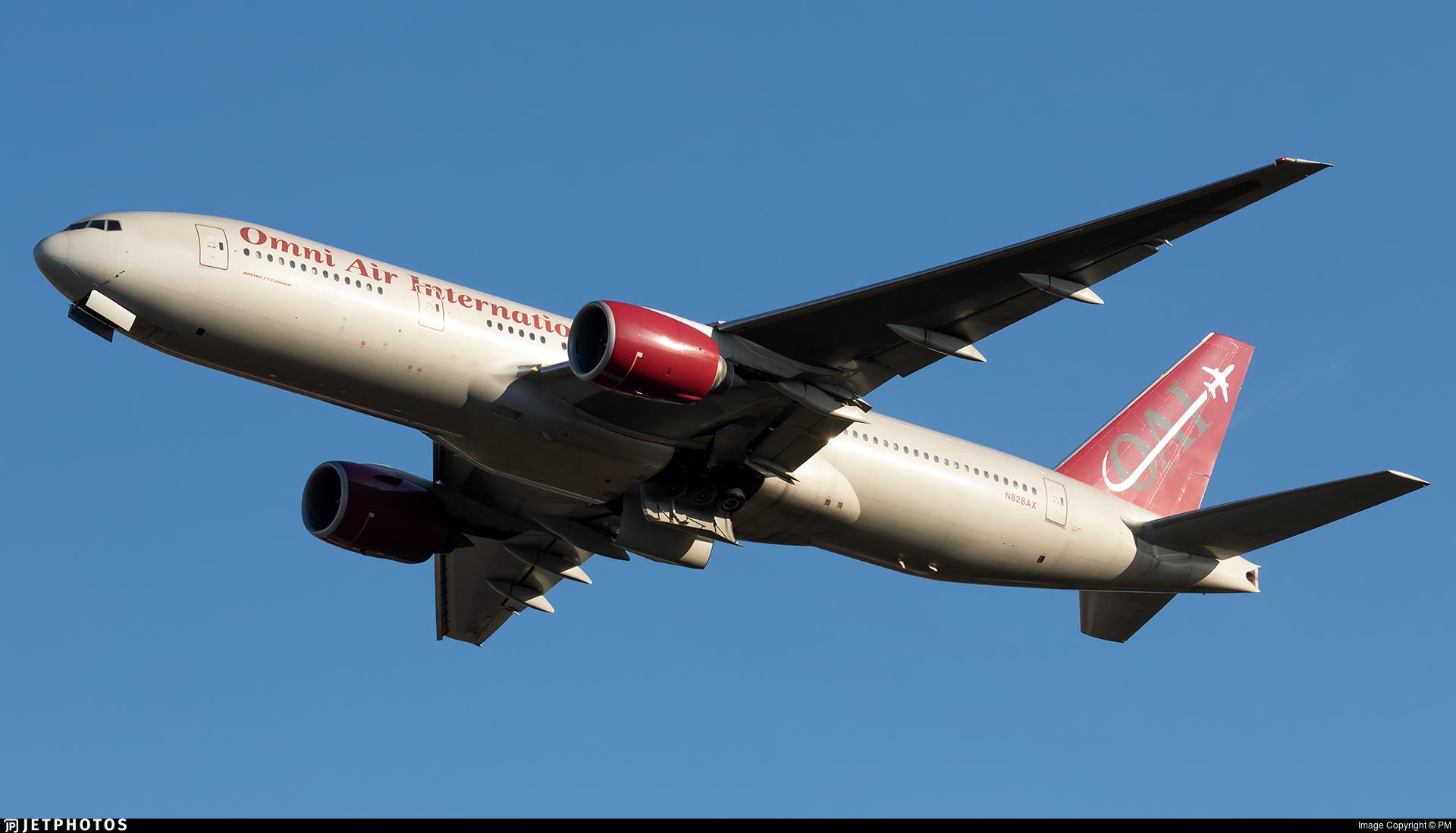 N828AX - Boeing 777-2U8(ER) - Omni Air International (OAI)