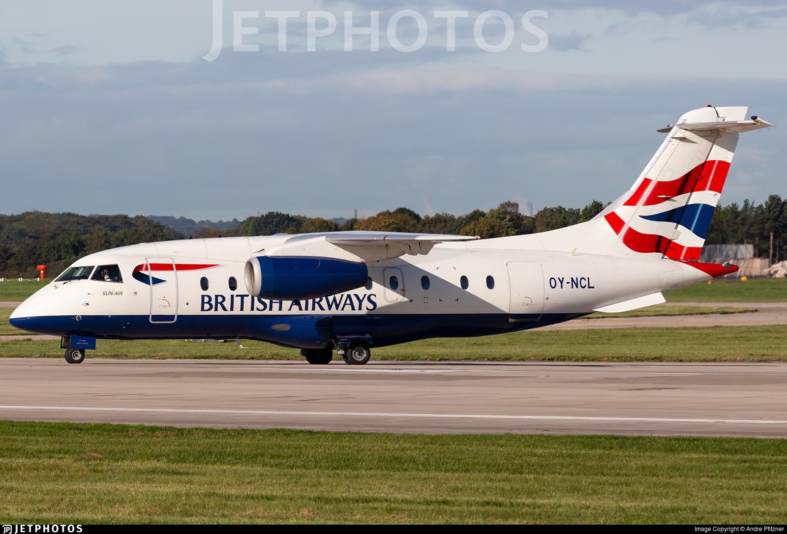 OY-NCL - Dornier Do-328-300 Jet - British Airways (Sun-Air)