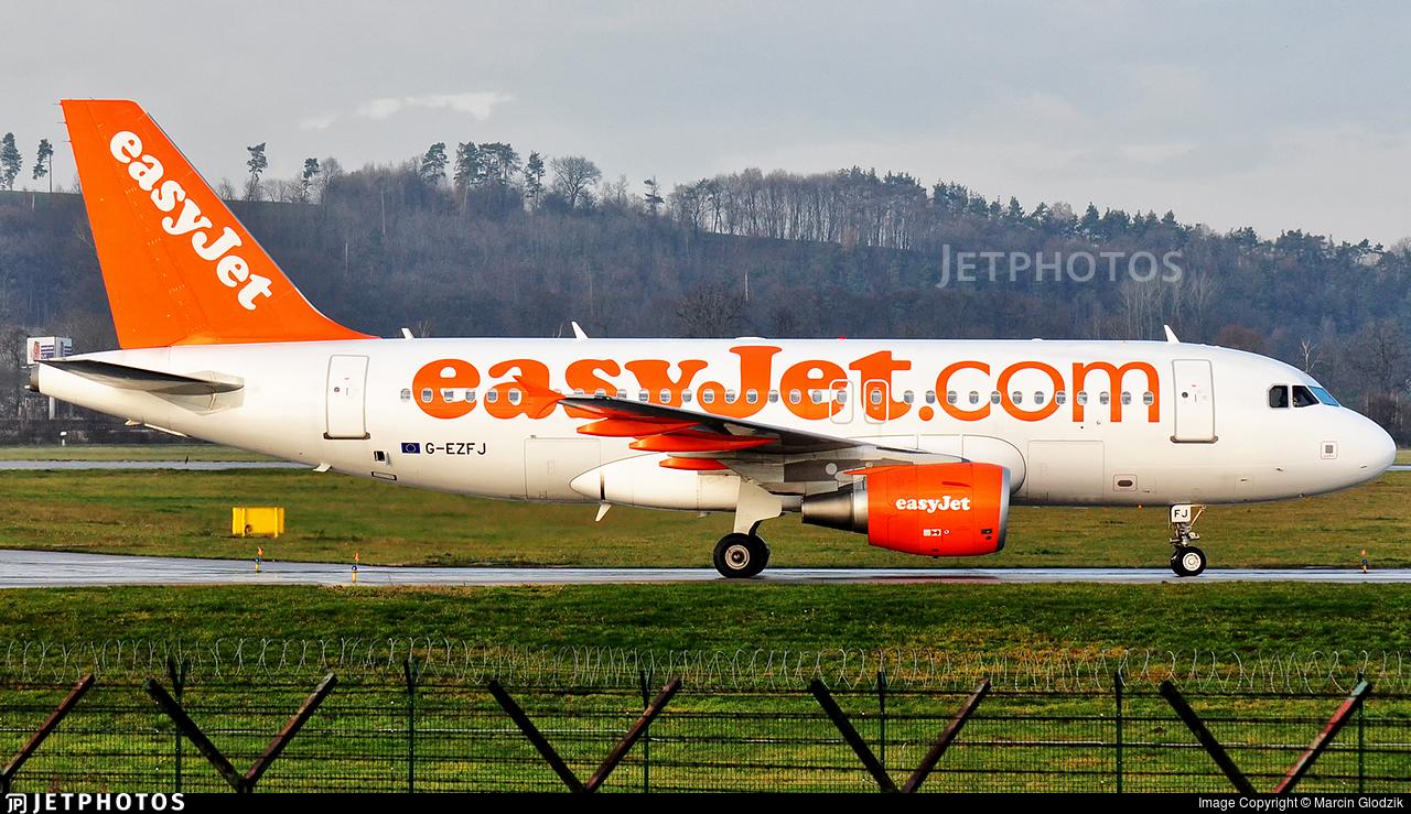G-EZFJ - Airbus A319-111 - easyJet