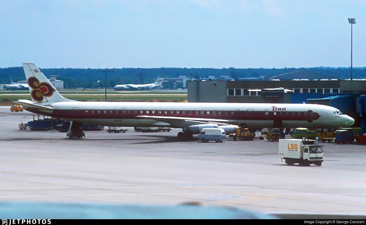 HS-TGX - Douglas DC-8-63 - Thai Airways International