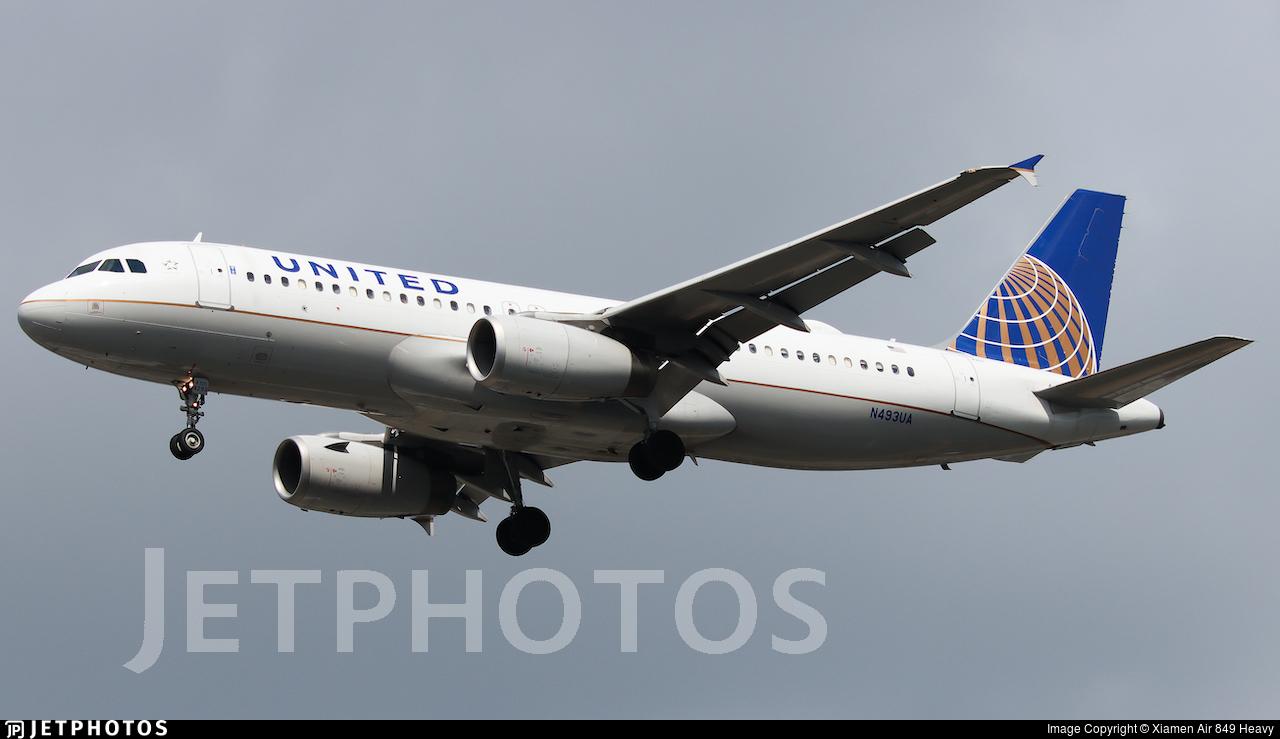 N493UA - Airbus A320-232 - United Airlines