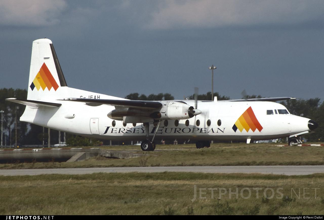 G-JEAH - Fokker F27-500F Friendship - Jersey European Airways