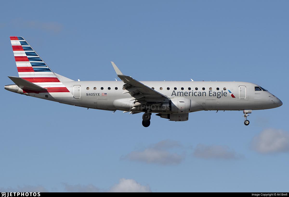 N405YX - Embraer 170-200LR - American Eagle (Republic Airways)