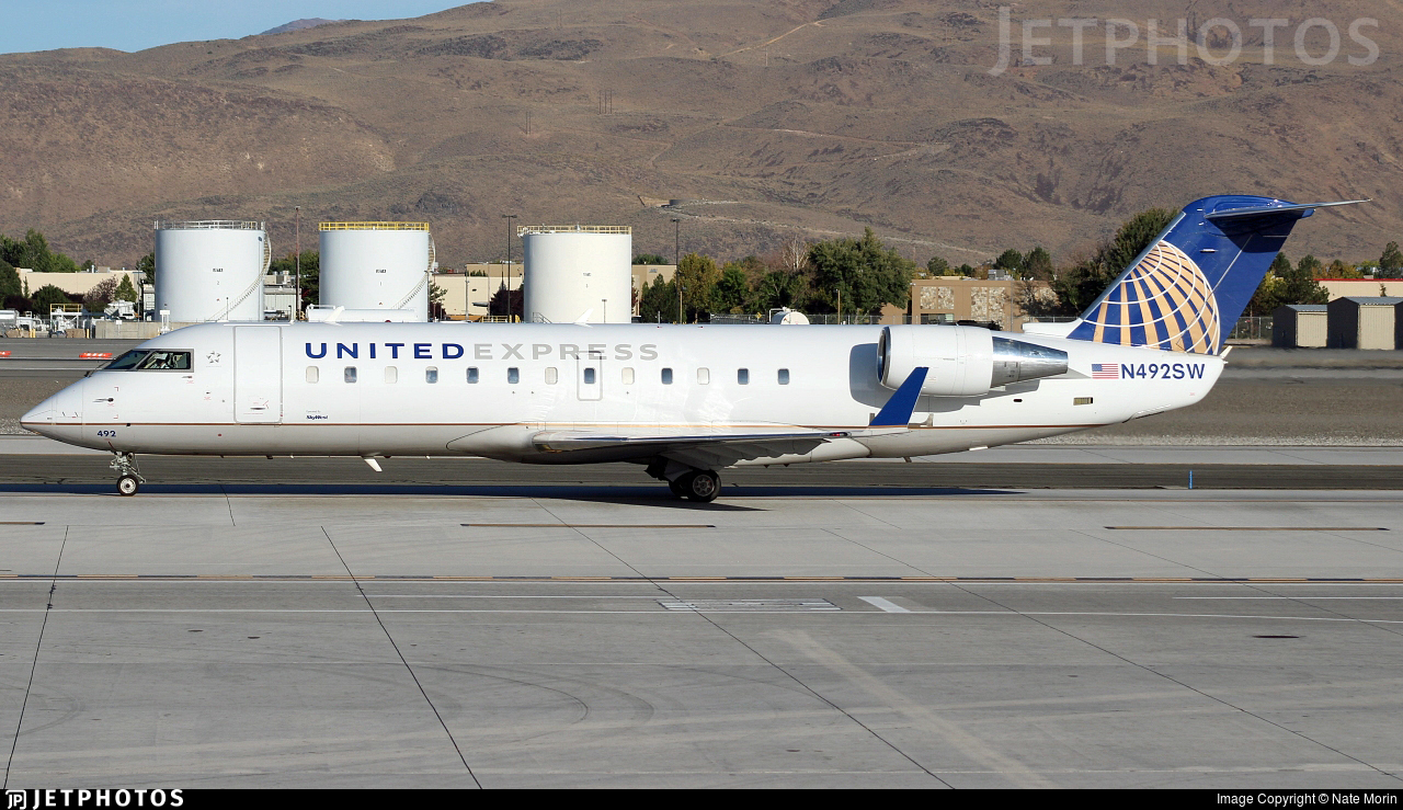 N492SW - Bombardier CRJ-100ER - United Express (SkyWest Airlines)