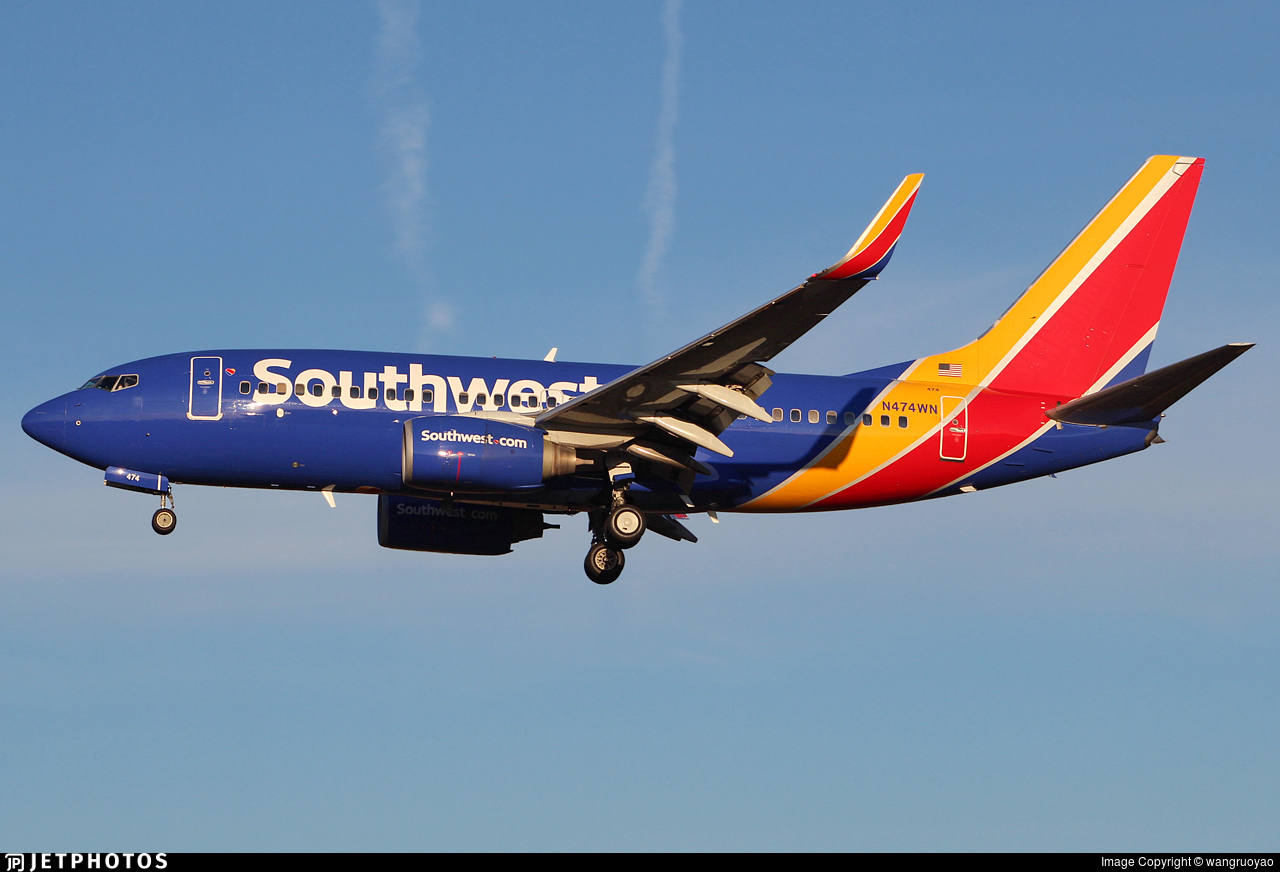 N474WN - Boeing 737-7H4 - Southwest Airlines