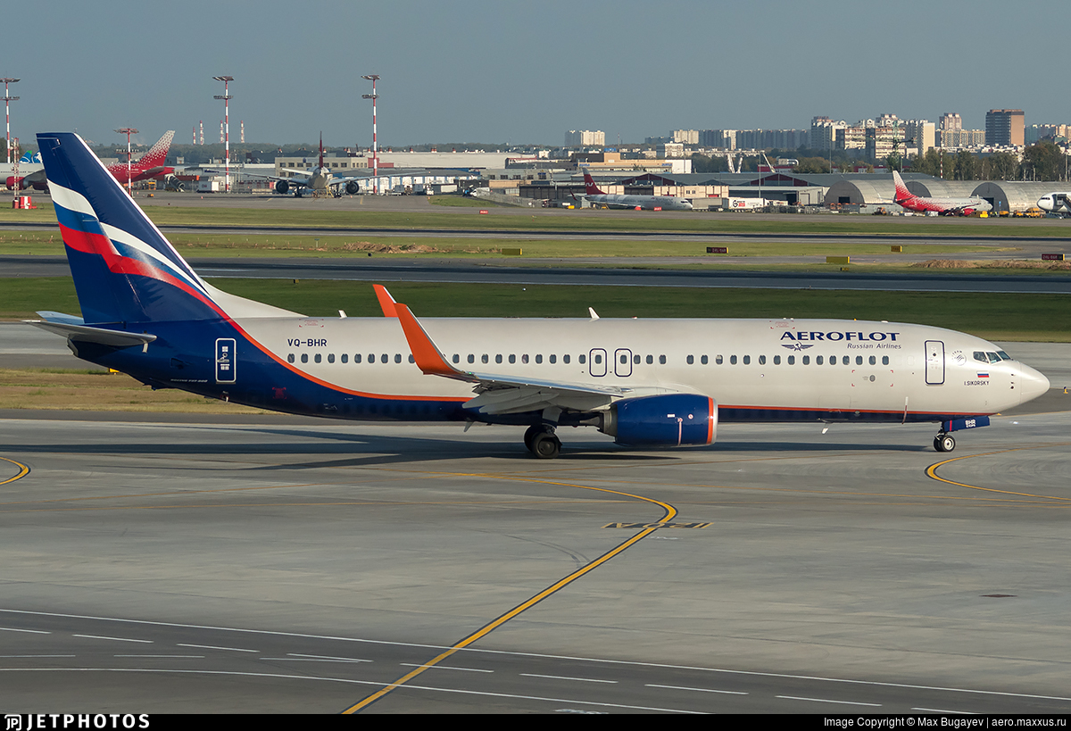 VQ-BHR - Boeing 737-8LJ - Aeroflot