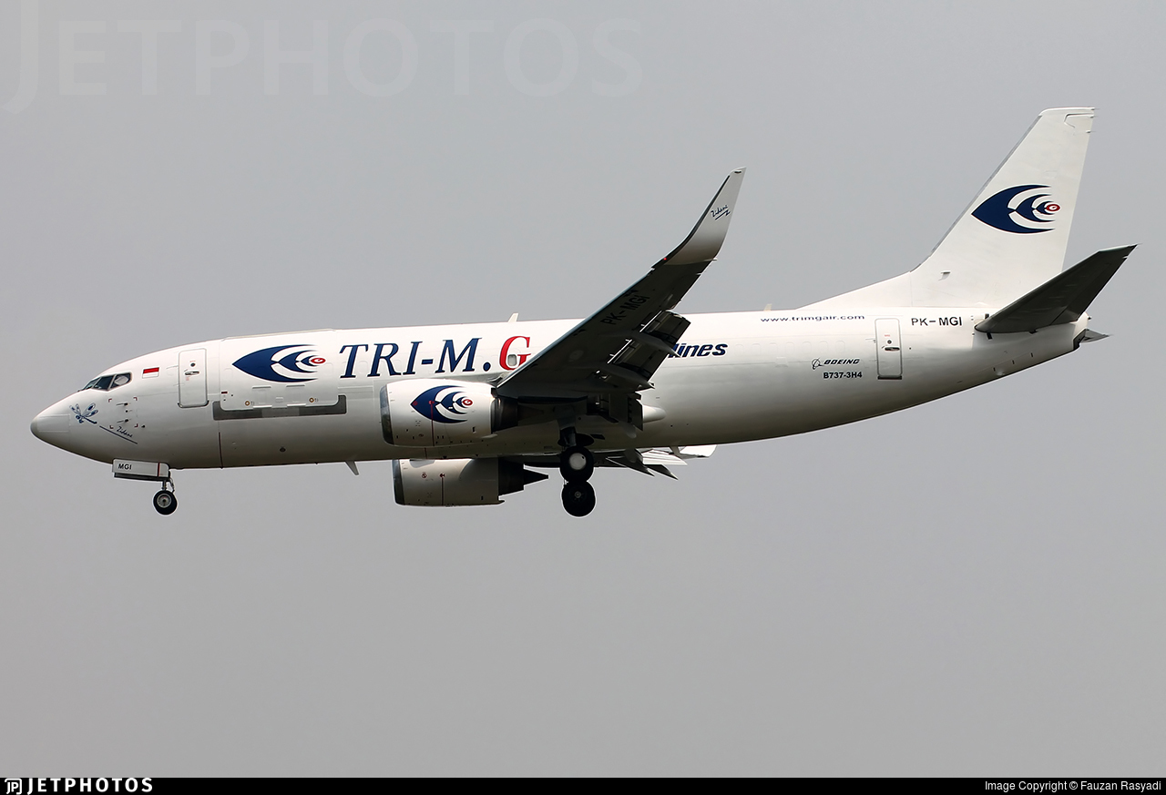 PK-MGI - Boeing 737-3H4(SF)  - Tri-MG Intra Asia Airlines