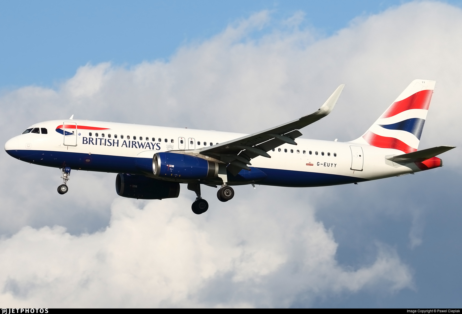 G-EUYY - Airbus A320-232 - British Airways