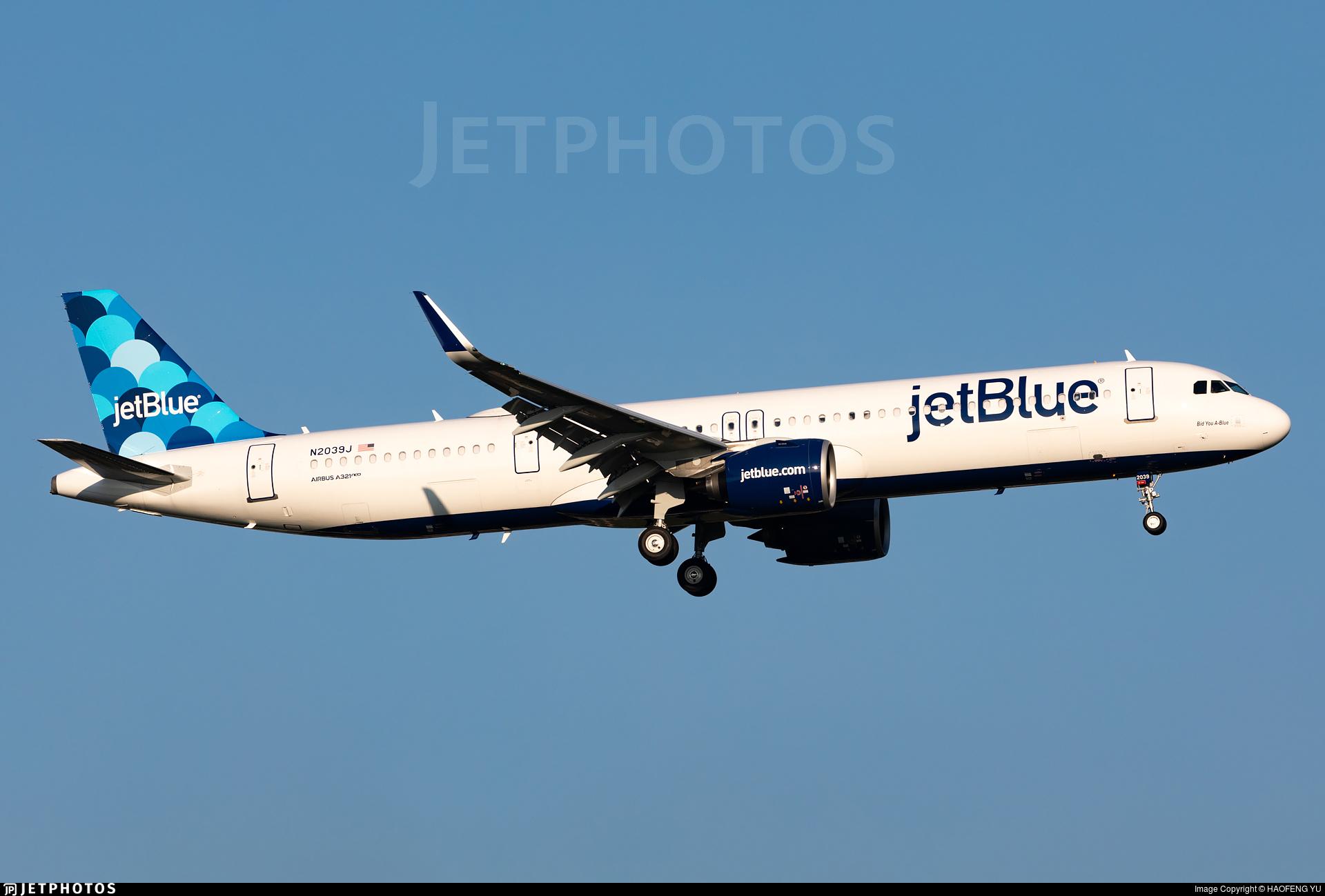 N2039J - Airbus A321-271NX - jetBlue Airways