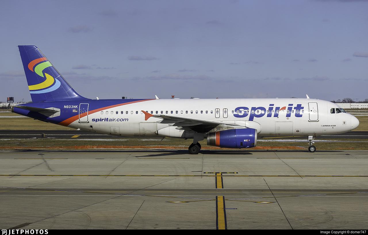 N603NK - Airbus A320-232 - Spirit Airlines
