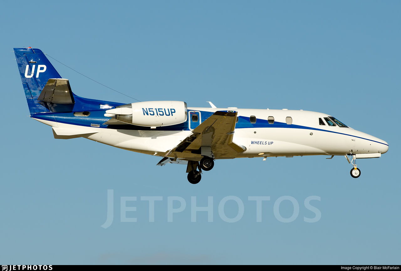 N515UP - Cessna 560XL Citation Excel - Wheels Up