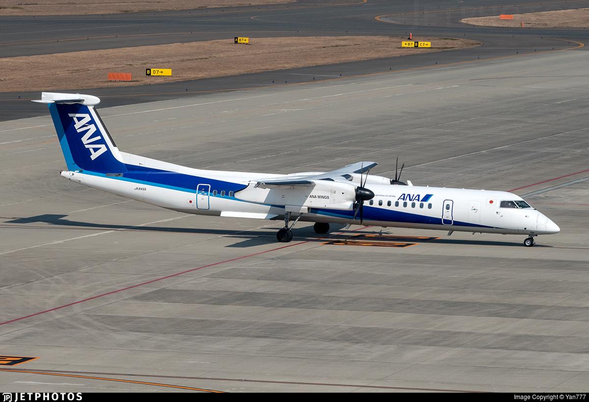 JA846A - Bombardier Dash 8-Q402 - ANA Wings
