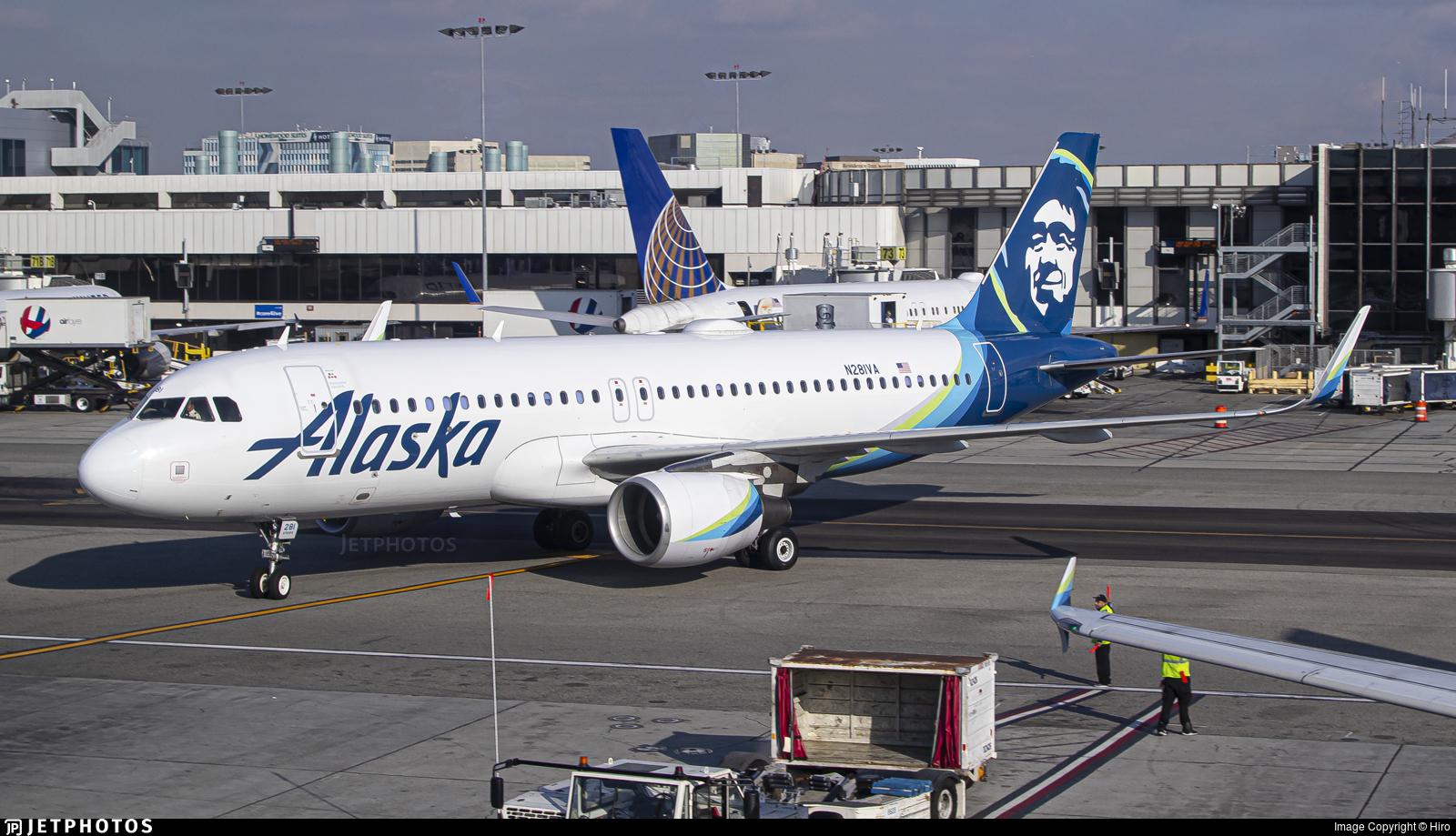 N281VA - Airbus A320-214 - Alaska Airlines