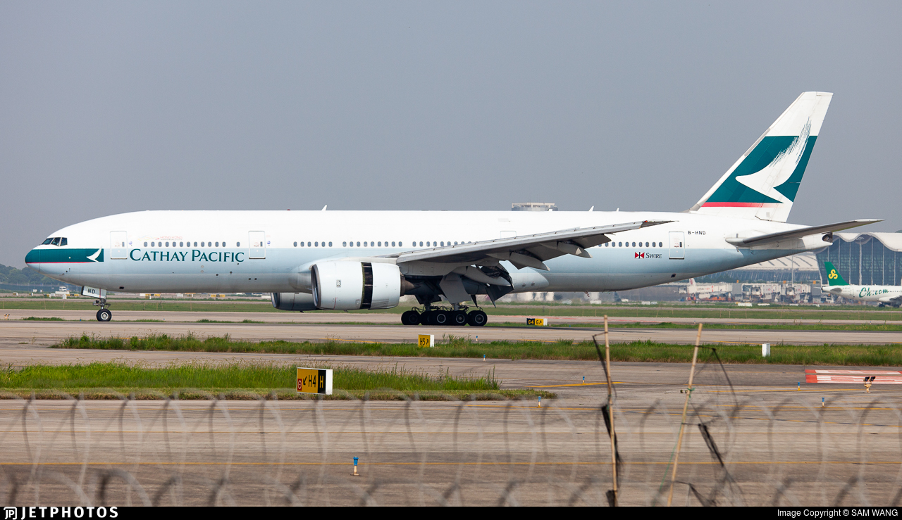 B-HND - Boeing 777-267 - Cathay Pacific Airways