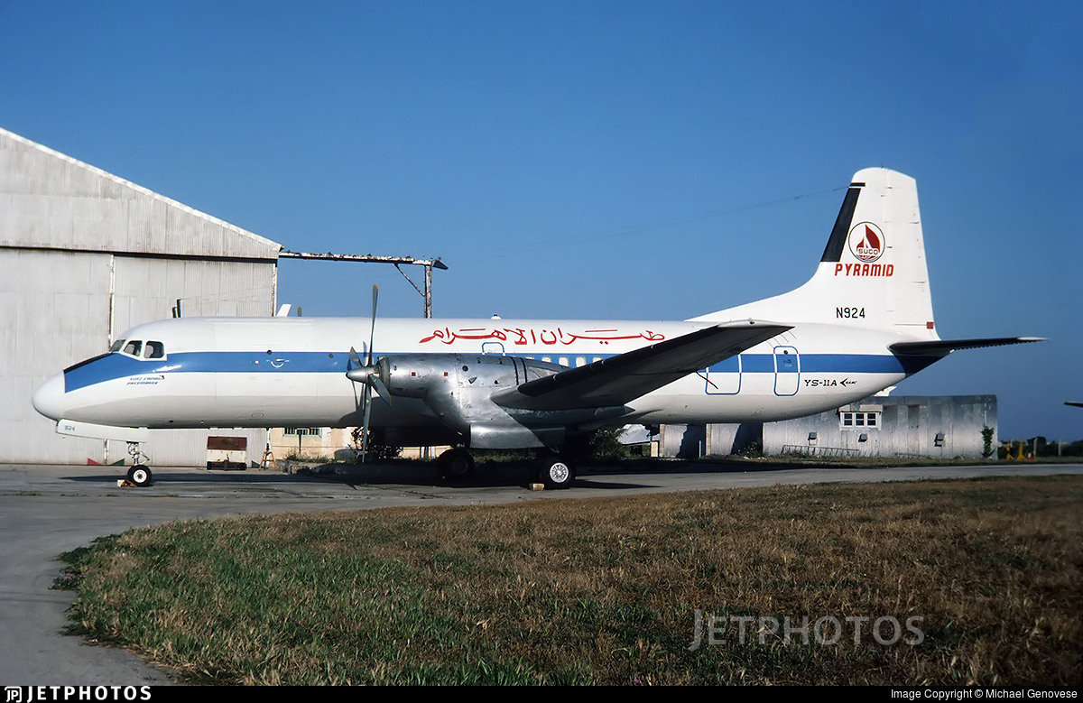 N924 - NAMC YS-11A - Pyramid Airlines