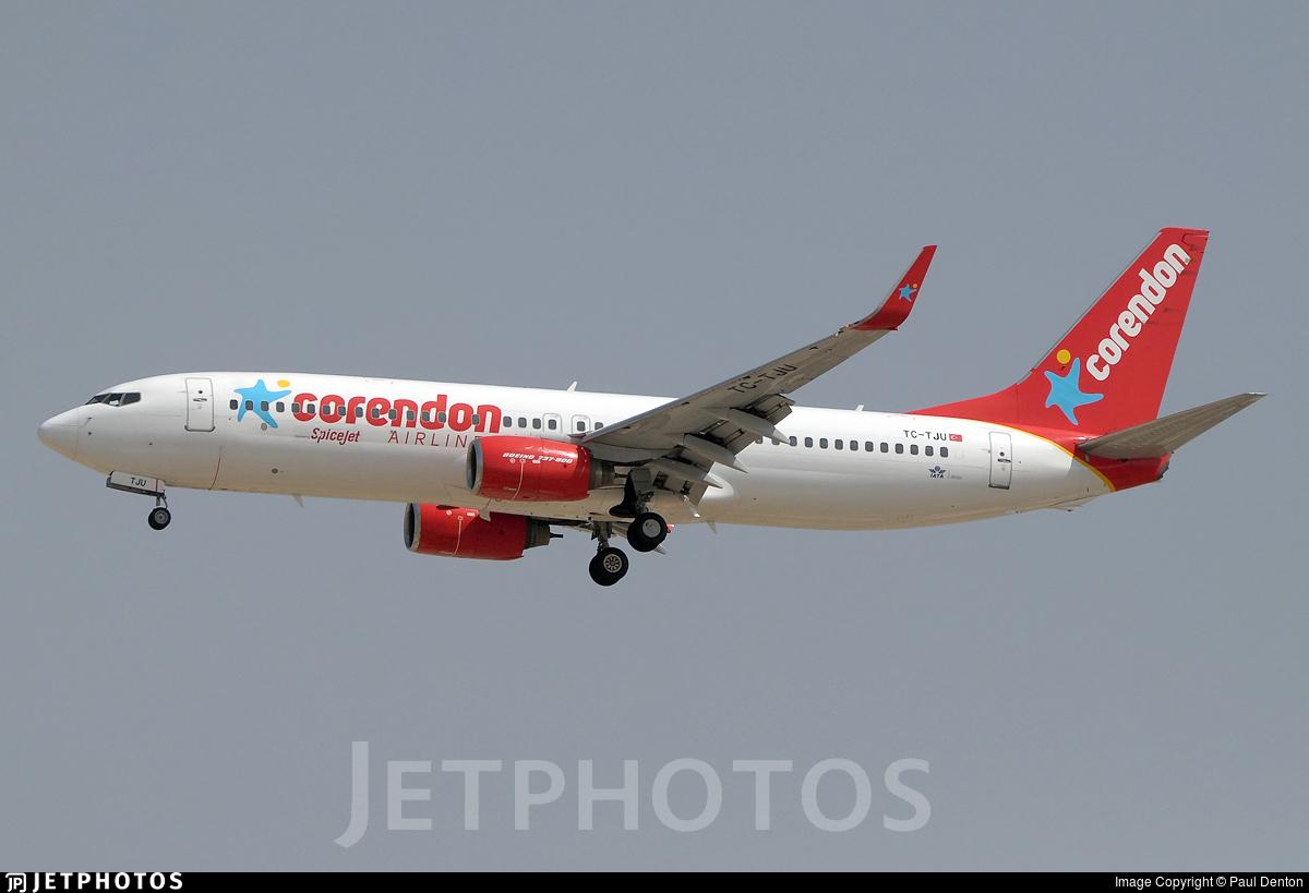 TC-TJU - Boeing 737-8HX - SpiceJet (Corendon Airlines)