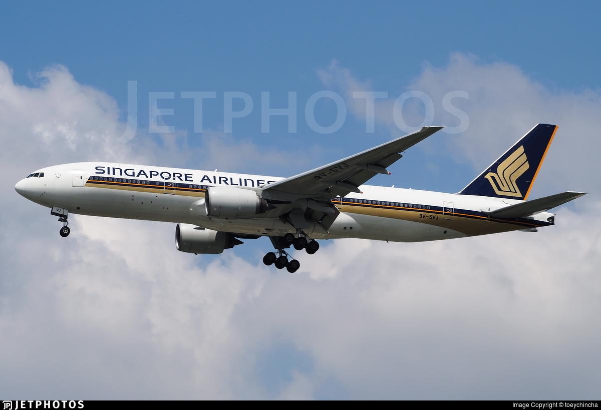 9V-SVJ - Boeing 777-212(ER) - Singapore Airlines